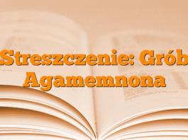 Streszczenie: Grób Agamemnona
