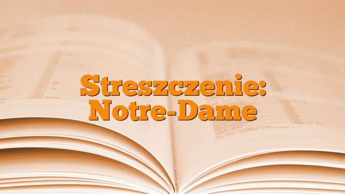 Streszczenie: Notre-Dame