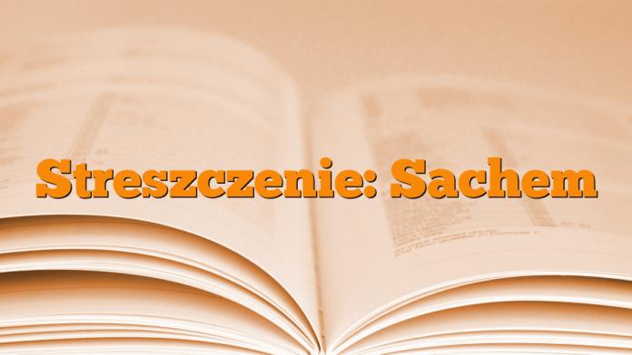 Streszczenie: Sachem