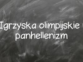 Igrzyska olimpijskie i panhellenizm