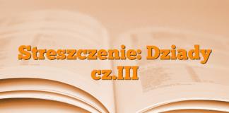 Streszczenie: Dziady cz.III